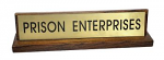 "Name Plate Holder - Wood - Stained and Varnished - 8"" X 2"""