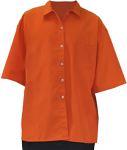 Twill Shirt, Short Sleeve, Orange